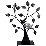 Jewelry Tree Bird Nest Black Table Top Décor 48 pair Earrings Holder / Bracelets Necklace Organizer Stand Display Tower