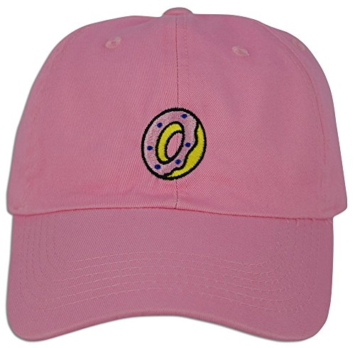 Design Womens Cap (JLGUSA Donut Hat Dad Embroidered Cap Polo Style Baseball Curved Unstructured Bill (Lt. Pink))