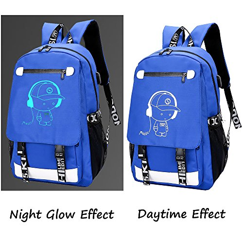 f0eea0695f Anime Backpack Luminous Backpack Boys School Backpack Noctilucent School  Bags Boys Bookbags for High School USB