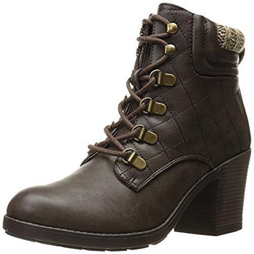 MIA Women's Teddy Ankle Bootie, Chocolate, 10 M US