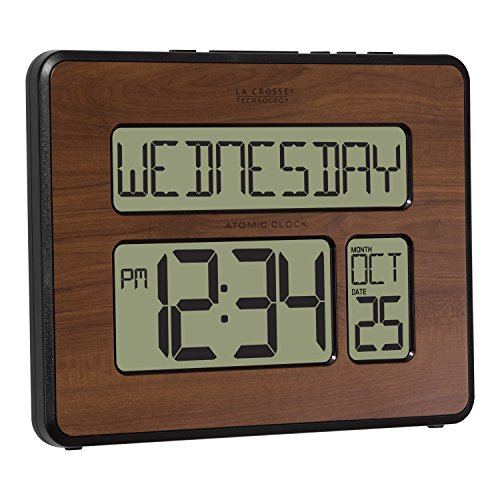 La Technology 513-1419BL-WA-INT Atomic Large Calendar Clock