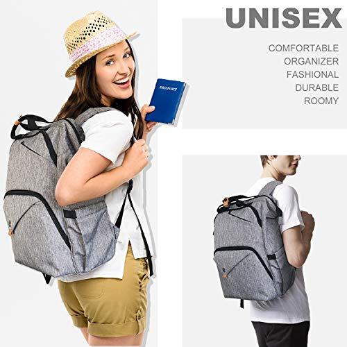 Hap Tim Laptop Backpack 15.6/14/13.3 Inch Laptop Bag Travel Backpack for Women/Men Waterproof School Computer Bag Large Capacity Bookbag for College/Travel/Business (7651US-BG) by Hap Tim (Image #6)