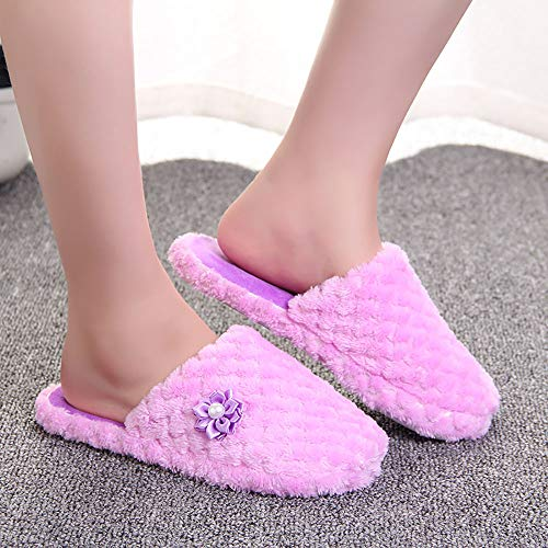 Chaussures Chaussure Femmes Solide Antidrapante Hiver Pantoufles Pantoufle Violettes Pour Chaude Predator Alikeey SwqxdR1R