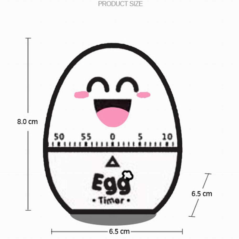 CRAZYON Cute Kitchen Egg Timer 60 Minutes Egg Shaped Mechanical Rotating Alarm for Cooking