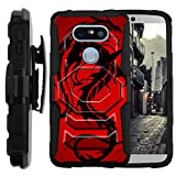 TurtleArmor | Compatible for LG G5 Case | H850 [Octo Guard] Dual Layer Case Holster Belt Clip Sturdy Kickstand Cover - Red Dragon