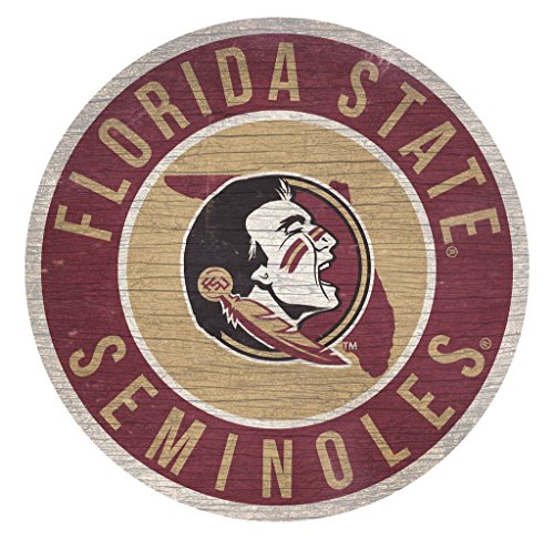 - Fan Creations Florida State Seminoles Sign Wood 12 Inch Round State Design