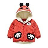 Londony▼ Clearance Sale,(12M-3Y) Kids Toddler Baby Long Sleeve Thicken Corduroy Panda Ear Hooded Outwear