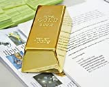 MYL 1kg 35oz Fake Gold Bar Bullion Door Stop Paperweight Set of 2