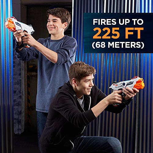 516LujkZ2JL - AlphaPoint Nerf Laser Ops Pro Toy Blasters - Includes 2 Blasters & 2 Armbands - Light & Sound FX - Health & Ammo Indicators - For Kids, Teens & Adults
