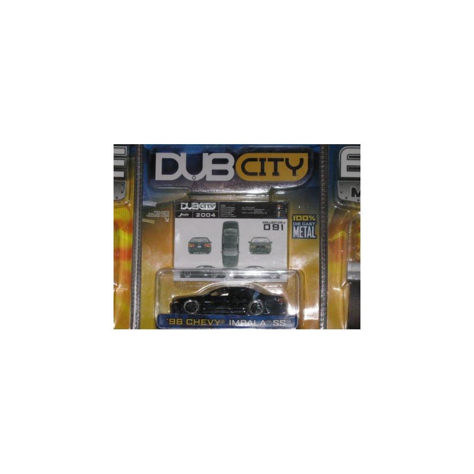 1996 BLACK Jada Toys Dub City 164 Chevy Impala SS