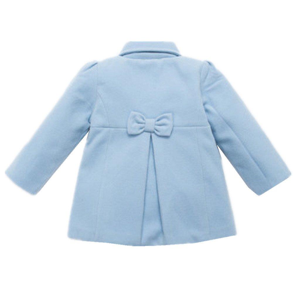 Ding-dong Kid Tollder Girl Winter Woolen Bowknot Outwear