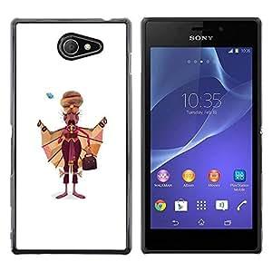 Opción de regalo/Slim carcasa SmartPhone de celular para Sony Xperia M2 // Sikh dibujo India sijismo preformación hombre arte //