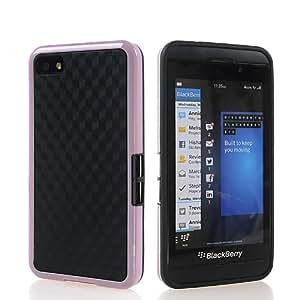 KCASE Flexible Gel TPU Soft Silicone Back Case Cover For Blackberry Z10 BB 10 Black Babypink