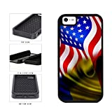 BleuReign(TM) Romania And USA Mixed Flag Dual Layer Phone Case Back Cover Apple iPhone 5 5s and iPhone SE