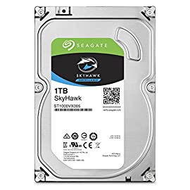 Seagate SkyHawk 1TB Surveillance Hard Drive - SATA 6Gb/s 64MB Cache 3.5-Inch Internal Drive (ST1000VX005) 4 Custom-built for surveillance applications with Image Perfect firmware for crisp, clear, 24×7 video workloads Maximum 180TB/year workload rating-3× the workload rating of desktop drives-for reliable performance in write-intensive surveillance systems Rotational vibration (RV) sensors help maintain performance in RAID and multi-drive systems (4TB or higher)