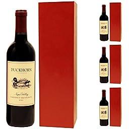 Wine & Liquor Gift Box, Fits 750-1.0 Liter Bottles (Pack of 4)