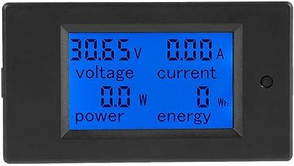 Aramox Digital Multimeter Digital Lcd Voltmeter Dc 6 5 100 V Stromzähler Elektrische Energie Energie Volt Meter 50 100a Shunt 50a Current Shunt Küche Haushalt