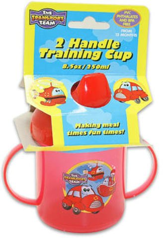 8.5oz Red PlasticTraining Cup w/ Handles 36 pcs sku# 1780636MA by DDI (Image #1)