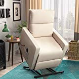 Power Lift Chair Recliner for Elderly Soft and Warm Fabric, with Remote Control for Living Room...