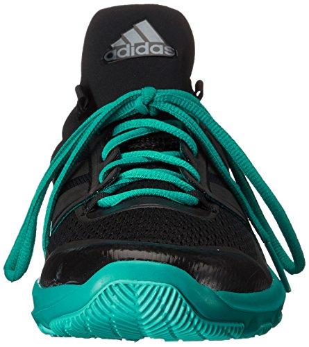 Adidas Performance Mens Adipure 360.3 M Trainingsschoen Zwart / Zwart / Groen Apparatuur