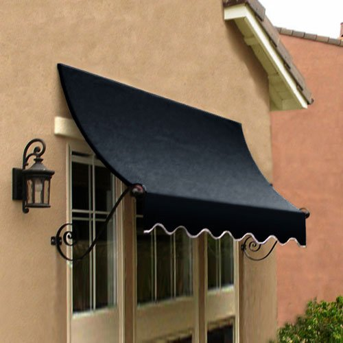 Awntech 8' Charleston Window (Awntech 8-Feet Charleston Window/Entry Awning, 31 by 24-Inch, Black)