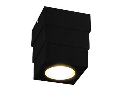 Led Deckenspot Led Deckenlampe Spledko3 4000k Schwarz Aus Holz