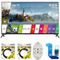 "LG 60"" Super UHD 4K HDR Smart LED TV 2017 Model (60UJ7700) with 2x 6ft High Speed HDMI Cable Black, Transformer Tap USB w/ 6-Outlet Wall Adapter and 2 Ports & Screen Cleaner for LED TVs"