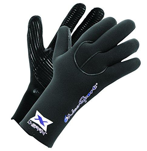 NeoSport 7-mm XSPAN Glove (Black, Medium) - Diving, Snorkeling & Waterskiing