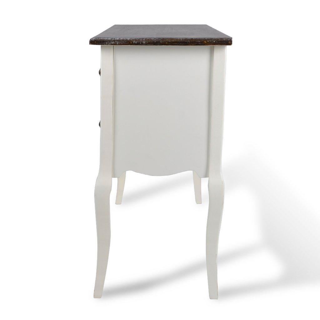 vidaXL Tavolo consolle in legno con 6 cassetti bianco: Amazon.it ...