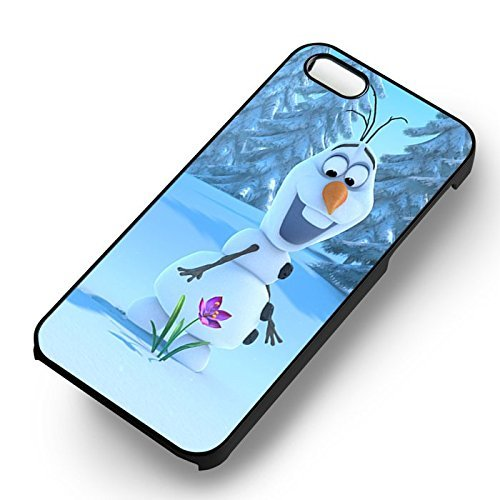 Cute Olaf Snowman pour Coque Iphone 6 et Coque Iphone 6s Case (Noir Boîtier en plastique dur) A5R8EO
