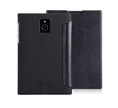 Nillkin BlackBerry Passport V-Series Leather Case - Retail Packaging - Black