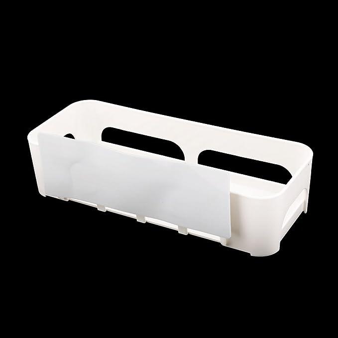 Amazon.com: eDealMax plástico ahueca hacia fuera el diseño de almacenamiento de la cocina del hogar del sostenedor del estante blanco Organizador: Kitchen & ...