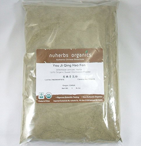 Wormwood Herb Powder, Sweet Annie, Certified Organic / You Ji Qing Hao Fen, 1lb Bulk Herb Powder by nuherbs Organic