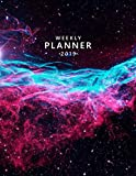 Weekly Planner 2019: Nebula deep space galaxy