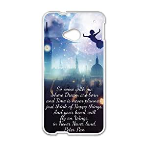 Peter Pan Flying Quotes Pattern Plastic Case For HTC M7
