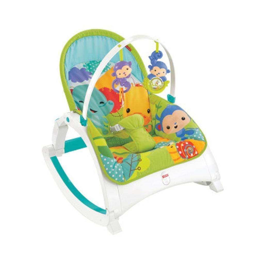 GZ Babyschaukelstuhl, Faltbarer Babyschaukelstuhl Multifunktionsmusik Schütteln Baby Beruhigenden Schaukelnden Blauen Stuhl