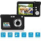 HD Mini Digital Camera with 2.7 Inch TFT LCD Display, Digital Video Camera Black- Sports,Travel,Camping,Birthday (Black)