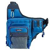 Piscifun Sports Shoulder Bag Fishing Tackle Bag Crossbody Messenger Sling Bags (Khaki)