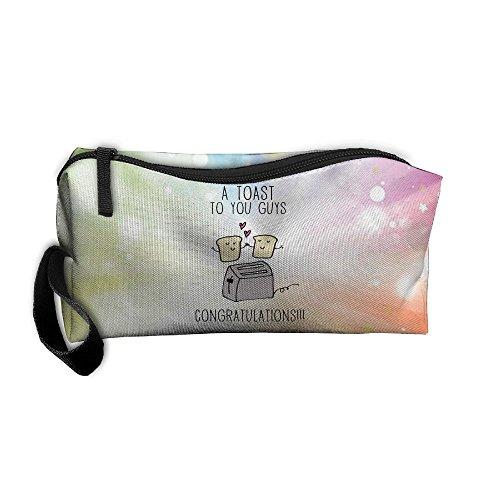 (A Toast To You Guys Congratulations Portable Zipper Storage Bag Clutch Wallets Pouch Coin Purse Zipper Holder Pencil Bag)