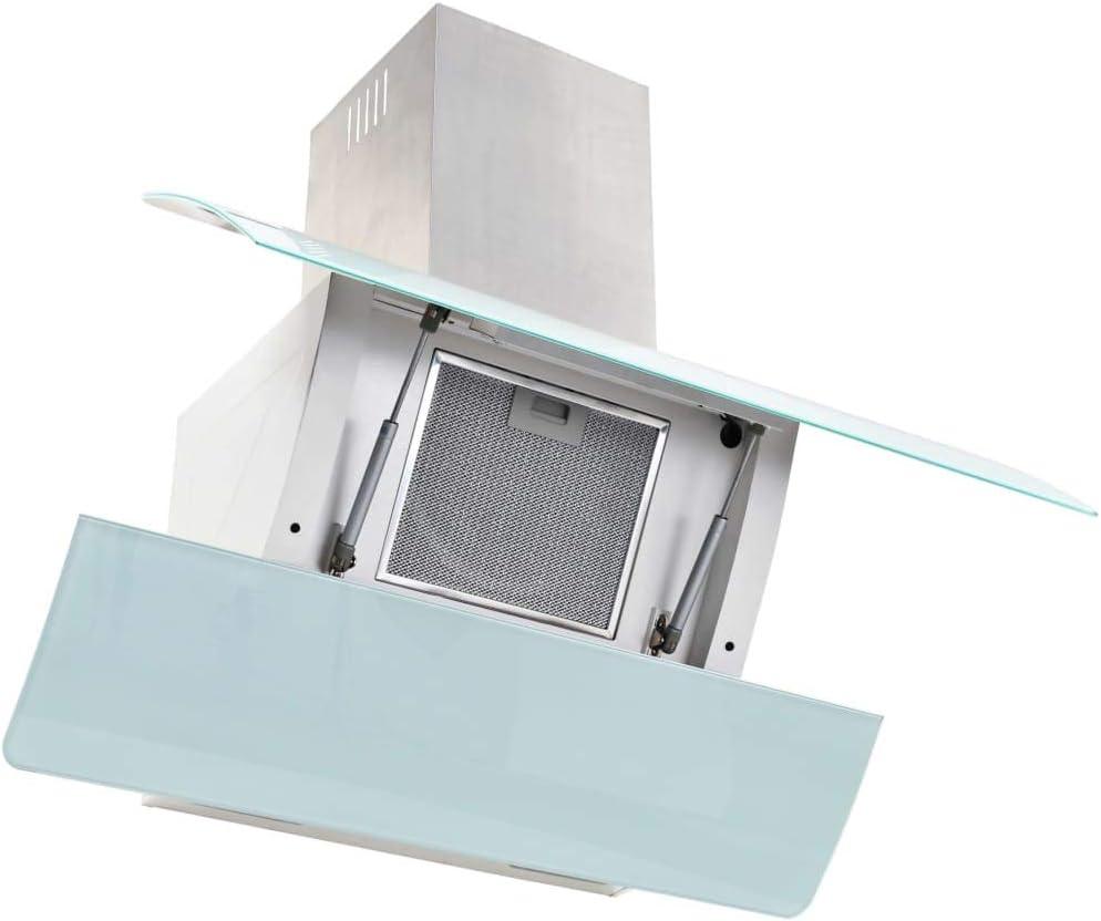 tuduo campana en la pared de acero inoxidable 756 M3/h 90 cm blanca Campanas extractoras Campanas cocina: Amazon.es: Grandes electrodomésticos