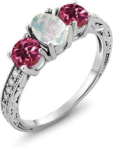 USA Seller Crown Ring Sterling Silver 925 Best Jewelry Selectable White Lab Opal
