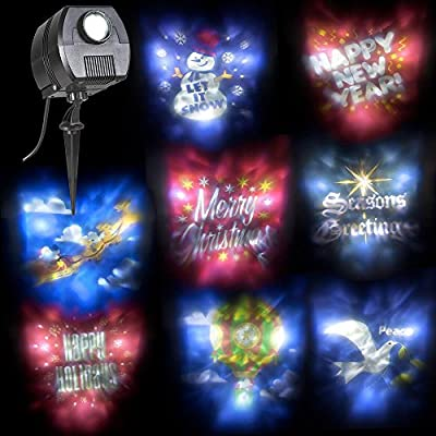 Christmas Outdoor/Indoor Holiday Projection Lightshow Display