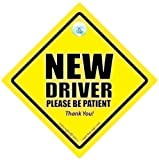 DRIVING iwantthatsign.com New Driver, New Driver Car Sign, New Driver Please Be Patient Car Sign,Decal, Bumper Sticker, Car Test, Driving Licence, Driving Test, Newly Passed Driver, Car Safety Sign