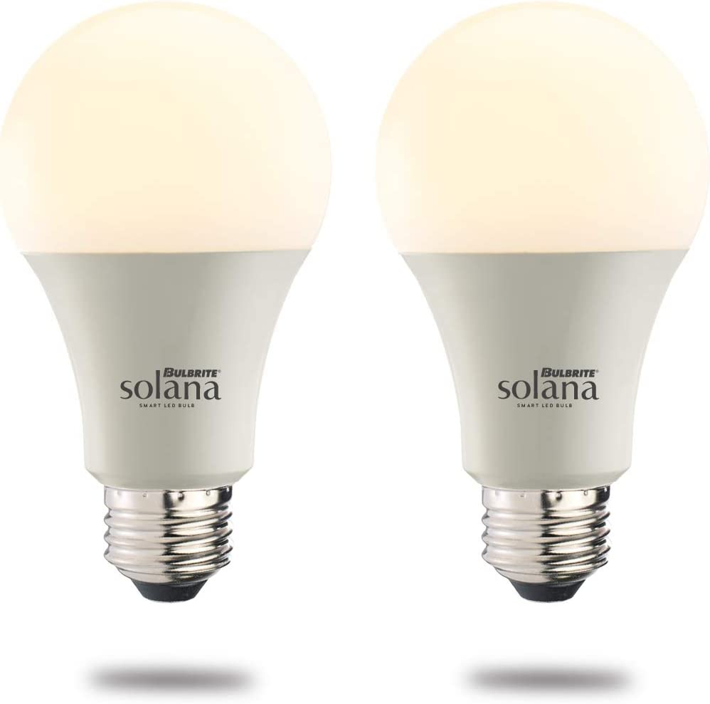 Bulbrite Solana A19 WiFi Connected LED Smart Light Bulb