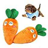 easyshop Dog Puppy Cat Vegetable Carrot Sound Voice Plush Toy