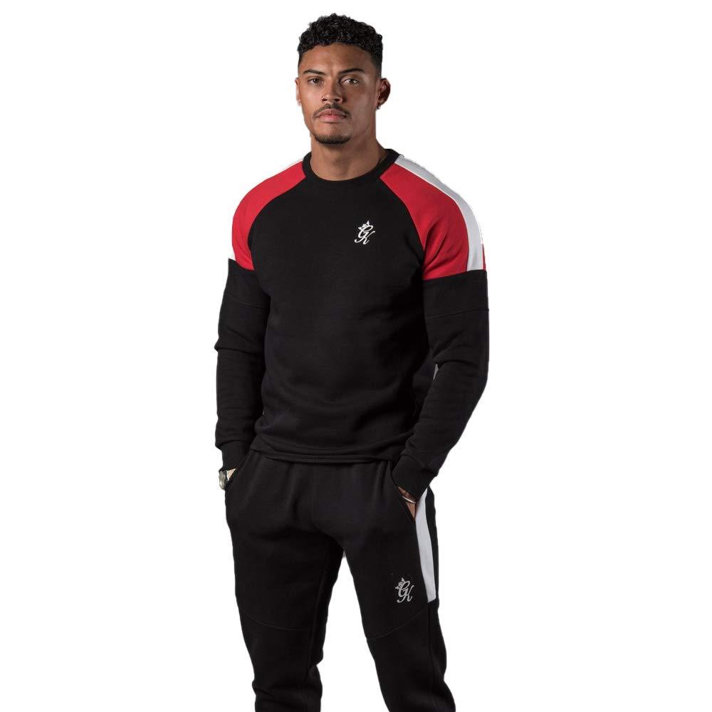 L Gym King Core Plus Contrast Sweatshirt noir rouge blanc