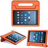 MoKo Case for All-New Amazon Fire HD 8 Tablet (6th/7th/8th Generation, 2016/2017/2018 Release) Kids Shock Proof Convertible Handle Light Weight Protective Stand Cover Case for Fire HD 8,Orange