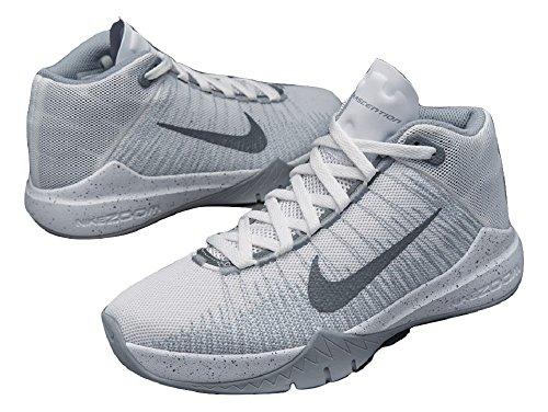 Nike 834319-101, Zapatillas de Baloncesto para Niños Blanco (White / Reflect Silver Wolf Grey)