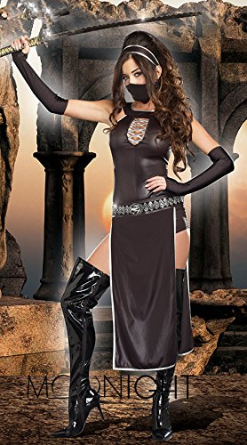 Cosplay 2016 Costumes (Topry (TM) 2016 New Hot Black Cheap Sexy Deadly Famale Ninja Costumes Adult Cosplay Costumes Masquerade Fancy Dress for Women)