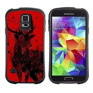 Suave TPU GEL Carcasa Funda Silicona Blando Estuche Caso de protección (para) Samsung Galaxy S5 / CECELL Phone case / / Deer Christmas Art Drawing Red Butterflies /